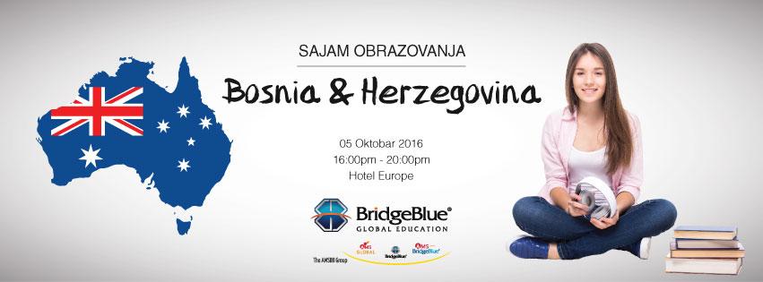 Studiraj u Australiji Obrazovni sajam u Sarajevu, Bosna i Hercegovina BridgeBlue Global